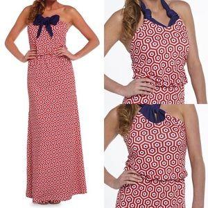 Leighton Convertible Geo Print Maxi Dress